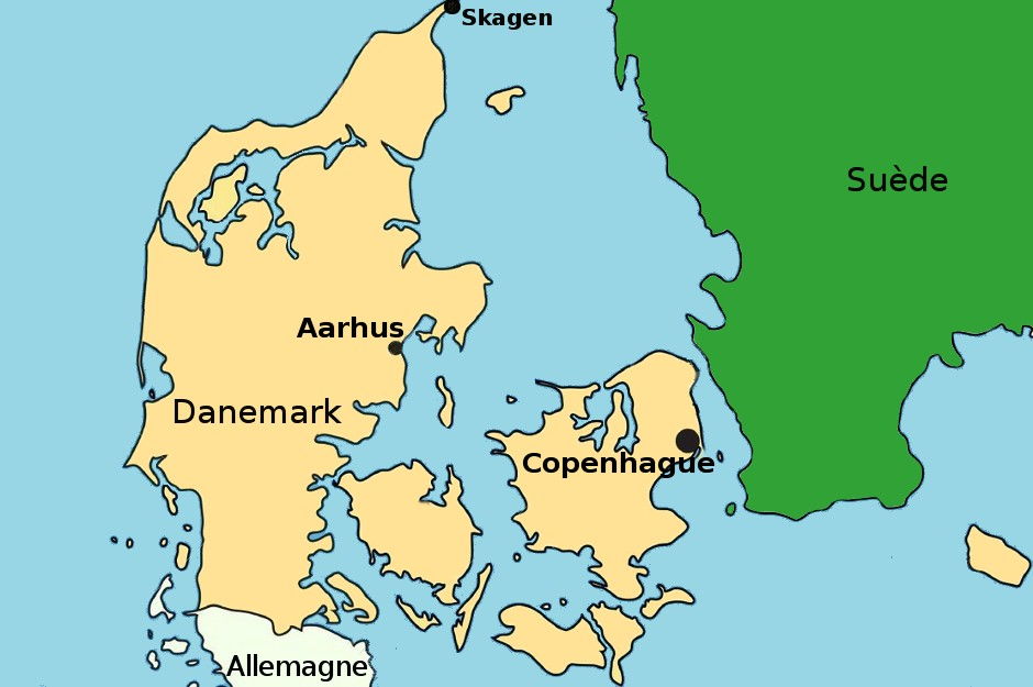 Carte Danemark